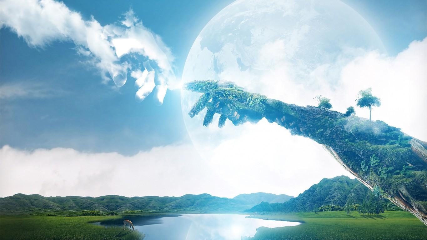 4 стихии:воздух, земля